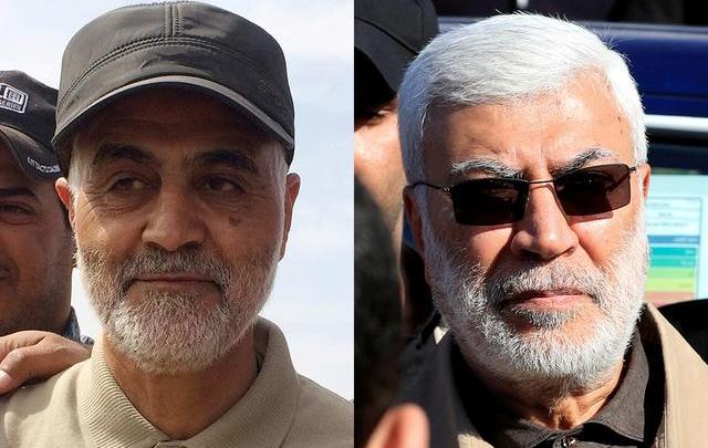 Major General Qassem Soleimani and Abu Mahdi al-Muhandis (Reuters.com(l)