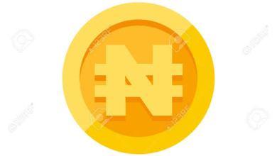 Symbol of Nigerian currrency on gold (design by 123rf.com)