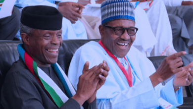 Buhari and Osinbajo (Photo credit-Vanguard)
