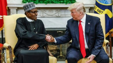 President Buhari and President Trump (Photo credit:US Embassy and Consulate in Nigeria)U.S. President Trump meets with Nigeria's President Buhari at the White House in Washington