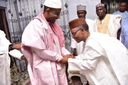 Your Royal Majesty! Governor El-Rufai seems to be saying to Sanusi here during his visit to him in Nasarawa