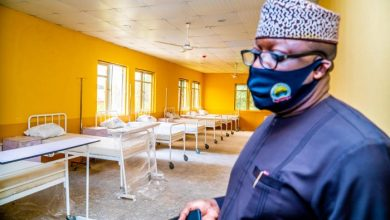 Governor Fayemi at the isolation centre