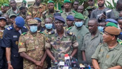 Mali's Military Leaders at a press conference