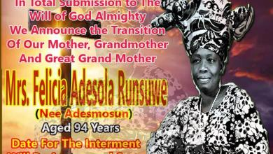 LateLate Madam Felicia Runsewe