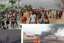 Riotous scenes from Benin (Photo credit-Channels Television)