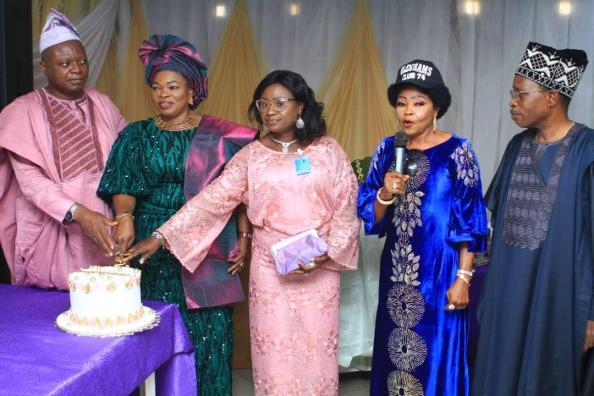 (L-R) Olayinka, Awomolo, Eyiwumi Olayinka, Mrs. Iyabo Anne Sanyaolu and Engr. Ebenezer Adegoke