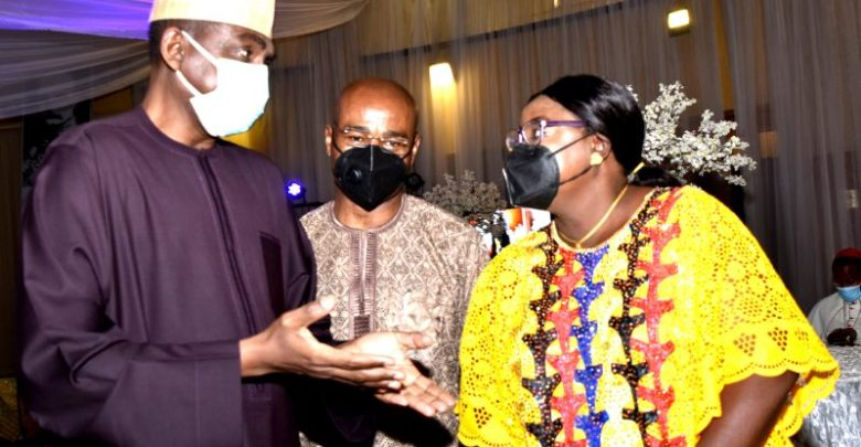 Attah and wife with Permanent Secretary State House