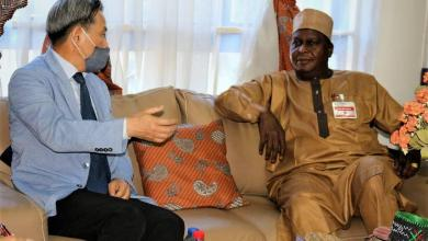 Otunba Runsewe and Ambasssador Chae during the latter's visit