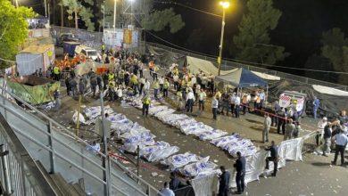 Body bags Israel Festival Stampede