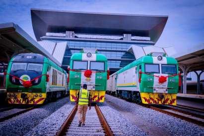 Three of the trains