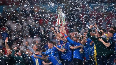 Italy celebrate with EURO Cup