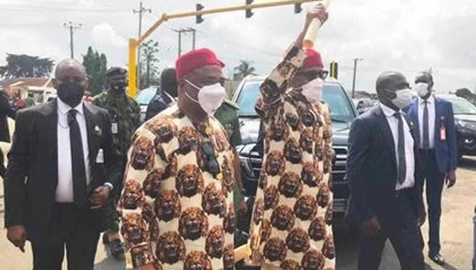 President Muhammadu Buhari and Governor Hope Uzordinma