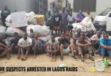 Suspects with their illicit cargo