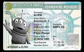 legal alien greencard