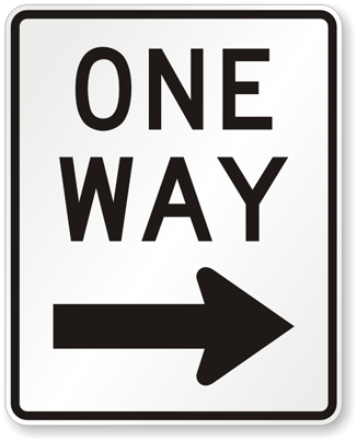 Image result for one-way
