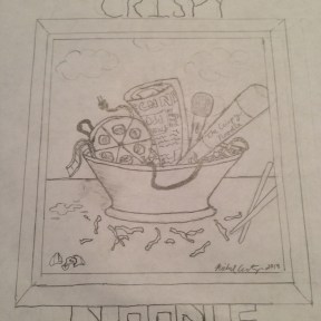 Our concept art for The Crispy Noodle logo. Still a work in progress.