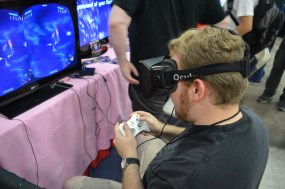 Rich tests out the Occulus Rift as he plays Galactose