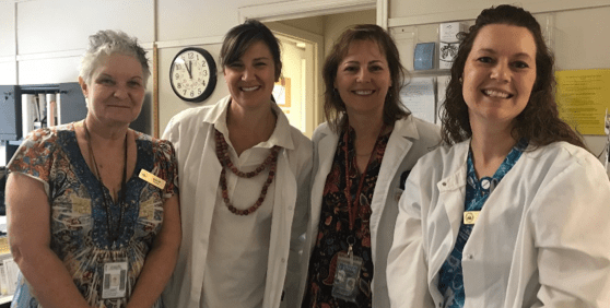 Health center staff. Photo by Brennae Spence. March 29, 2018.
