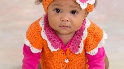 Incredible Flower Petal Baby Sweater Crochet Pattern