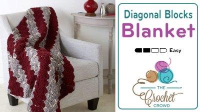 Crochet Diagonal Blocks Blanket + Tutorial