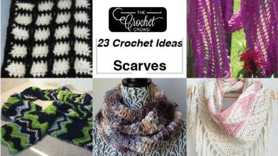 23 Crochet Scarf Pattern Ideas