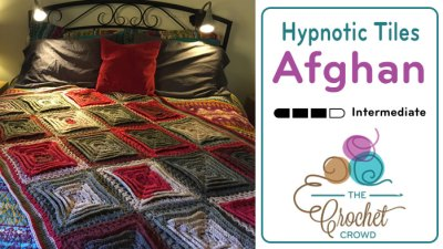 Crochet Hypnotic Tiles Afghan + Tutorial