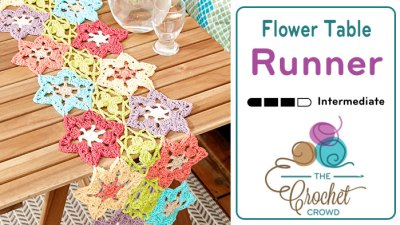 Flower Power Crochet Table Runner + Tutorial