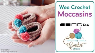 Crochet Baby Booties Moccasins + Tutorial