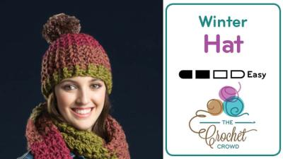 Crochet Artsy ⛄️  Puff Stitch Hat + Tutorial