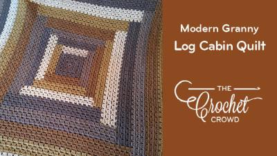 Crochet Log Cabin Quilt Style Modern Granny Afghan