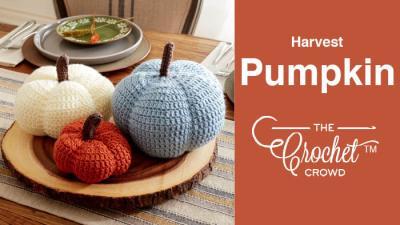 Crochet Harvest Pumpkin + Tutorial