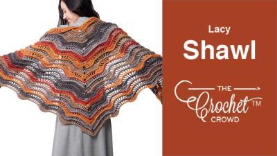 Crochet Lacy Shawl + Tutorial