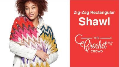 Crochet Zig-Zag Rectangular Shawl + Tutorial