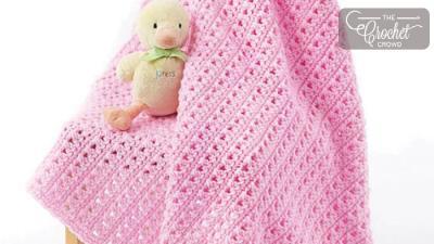 Crochet One Skein Baby Blanket + Tutorial