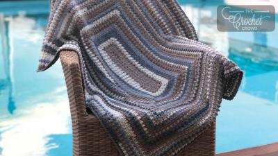 Crochet Extra Lemon Rectangle Blanket