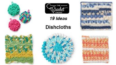 19 Free Crochet Dishcloth Patterns + Tutorials