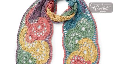 Crochet Calico Flowers Scarf + Tutorial