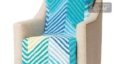 Crochet Cuddly Herringbone Blanket