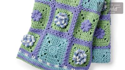 Stitch Along: Crochet Spring Garden Afghan + Tutorials