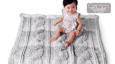 Crochet Big Cables Baby Blanket