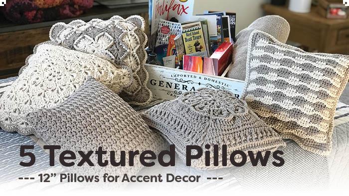 5 textured crochet pillow patterns