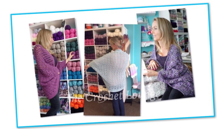 Crochet cardigan pattern by The Crochet Lounge