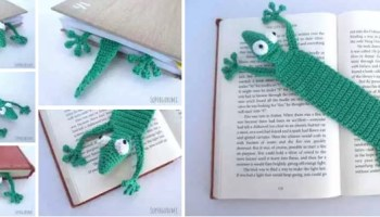 Amigurumi Mouse Bookmark Free Crochet Pattern | 200x350