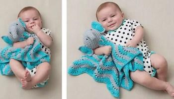 Crochet Elephant Lovey Blankets - My favorite! - YouTube | 200x350