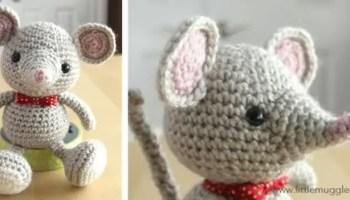 Ballerina mouse | downloadable amigurumi crochet pattern | lilleliis | 200x350