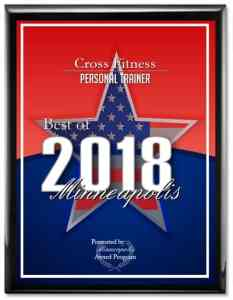 JC Cross given Best Personal Trainer Award for Minneapolis in 2018