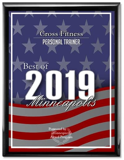 JC Cross given Best Personal Trainer Award in Minneapolis 2019