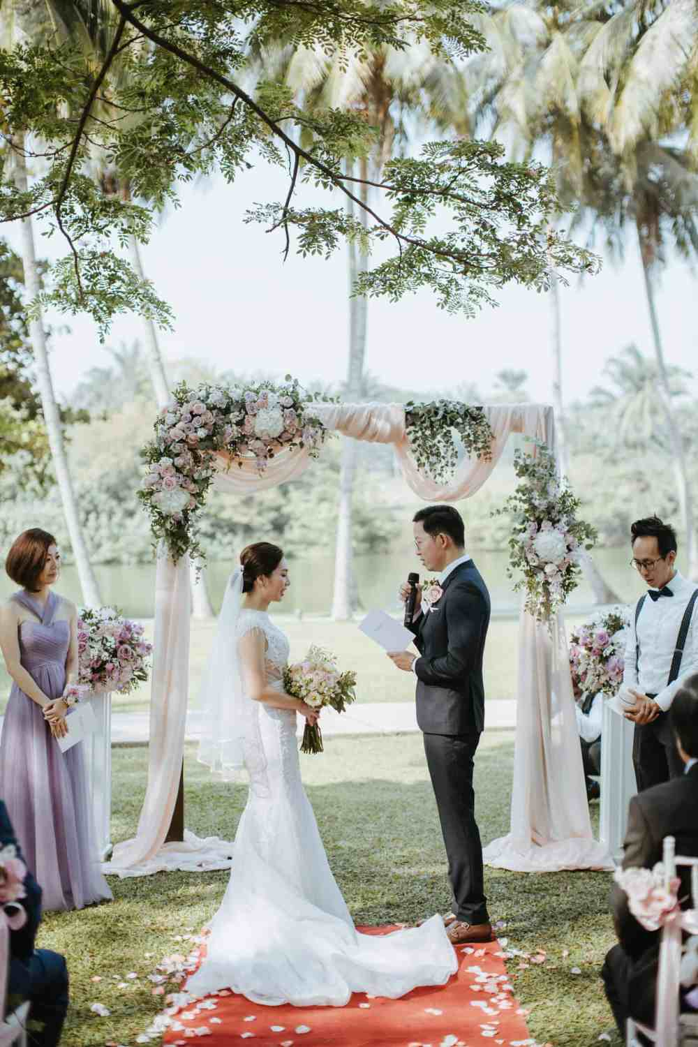 Garden Romantic Rustic Rosy Golden Wedding at The Saujana Hotel Subang Kuala Lumpur malaysia cliff choong the cross effects kevin tan destination portrait and wedding photographer malaysia kuala lumpur bride and groom couple kiss romantic intimate moment scene getting ready make up Ring detail green shoes