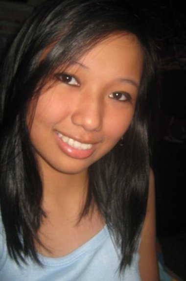 Summer before college, my hair's this short.