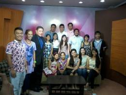 November 21, 2014. A Tv guesting at No Limit on channel GBPI to promote Nadia.